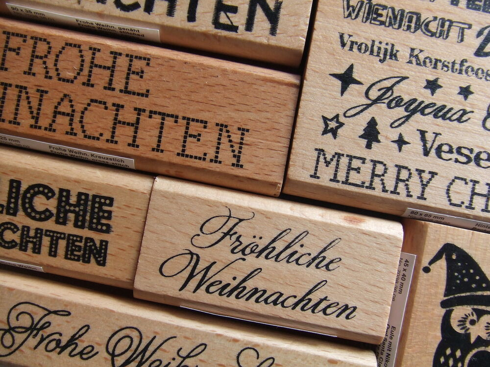 rico design paper poetry stempel weihnachten holz. Black Bedroom Furniture Sets. Home Design Ideas