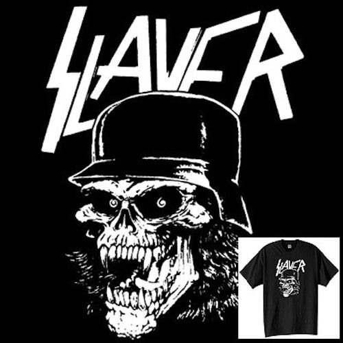 Slayer Skull T-Shirt Vintage Style Heavy Speed Trash Metal Band ...