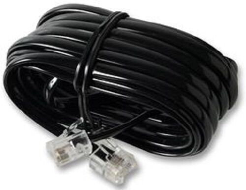 black 10m rj11 rj11 4 pin fully wired high speed broadband adsl cable ebay. Black Bedroom Furniture Sets. Home Design Ideas