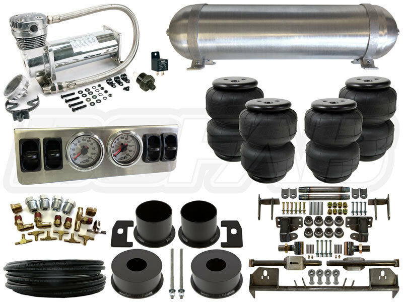 64 69 lincoln continental complete air suspension kit airbag 4 link kit 1 4 q. Black Bedroom Furniture Sets. Home Design Ideas