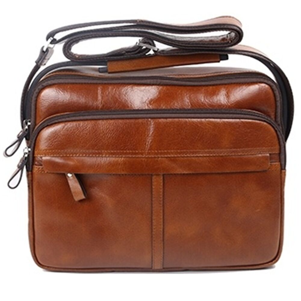 Details about Genuine Leather Man Messenger Shoulder Bag Men Bags Small  Business Bag BLE81002 95ad5c092ef27
