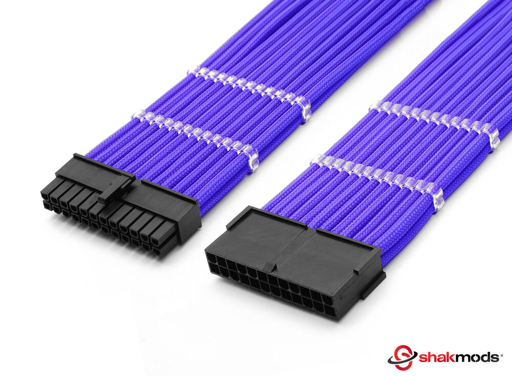 Shakmods 24pin Atx Motherboard 30cm Purple Sleeved
