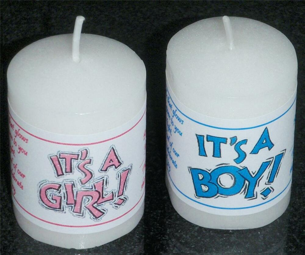 Baby Shower Stickers For Favors: PERSONALIZED 14 BABY SHOWER VOTIVE CANDLE LABELS STICKERS