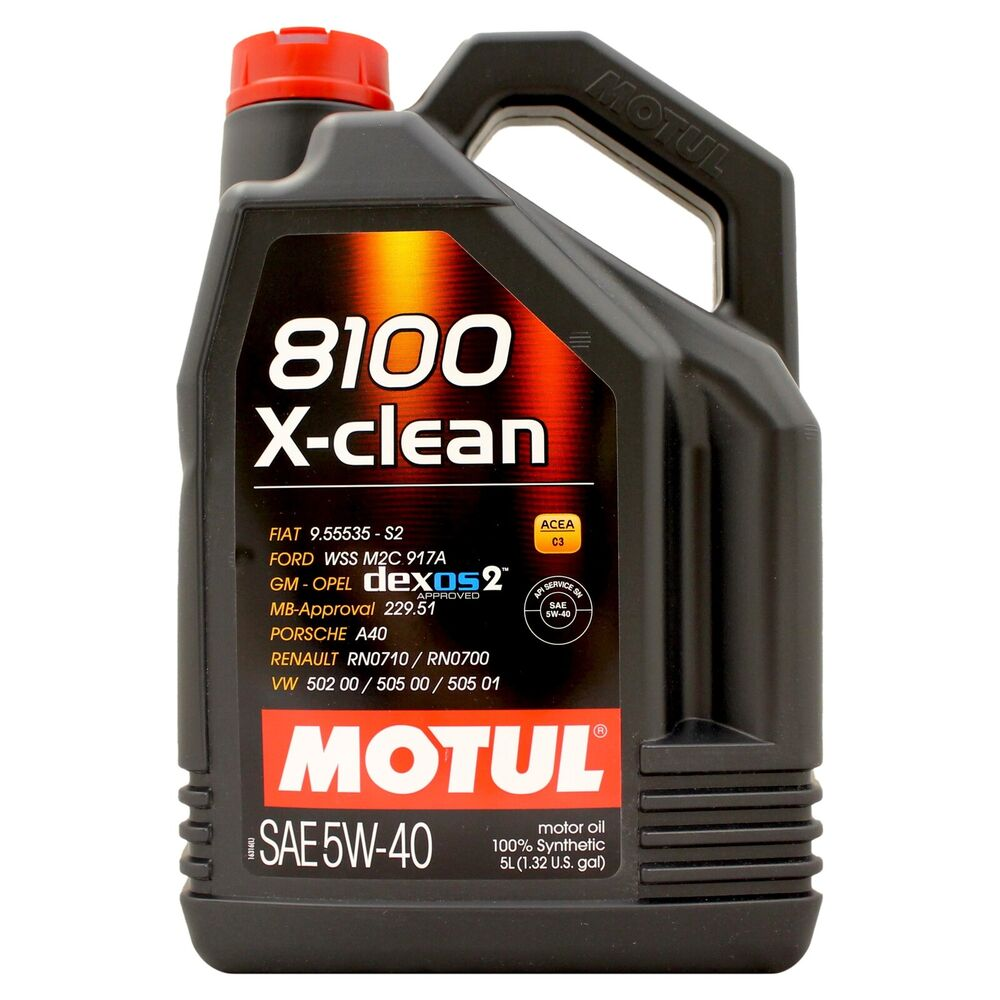 Motul 8100 X Clean 5w 40 Fully Synthetic Engine 5w40 Motor