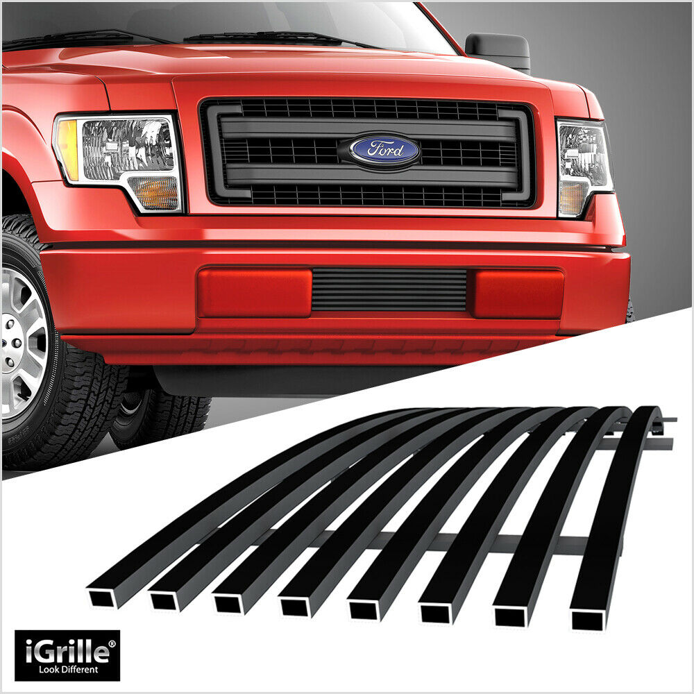 fits ford f150 f 150 pikcup bumper black billet grill. Black Bedroom Furniture Sets. Home Design Ideas