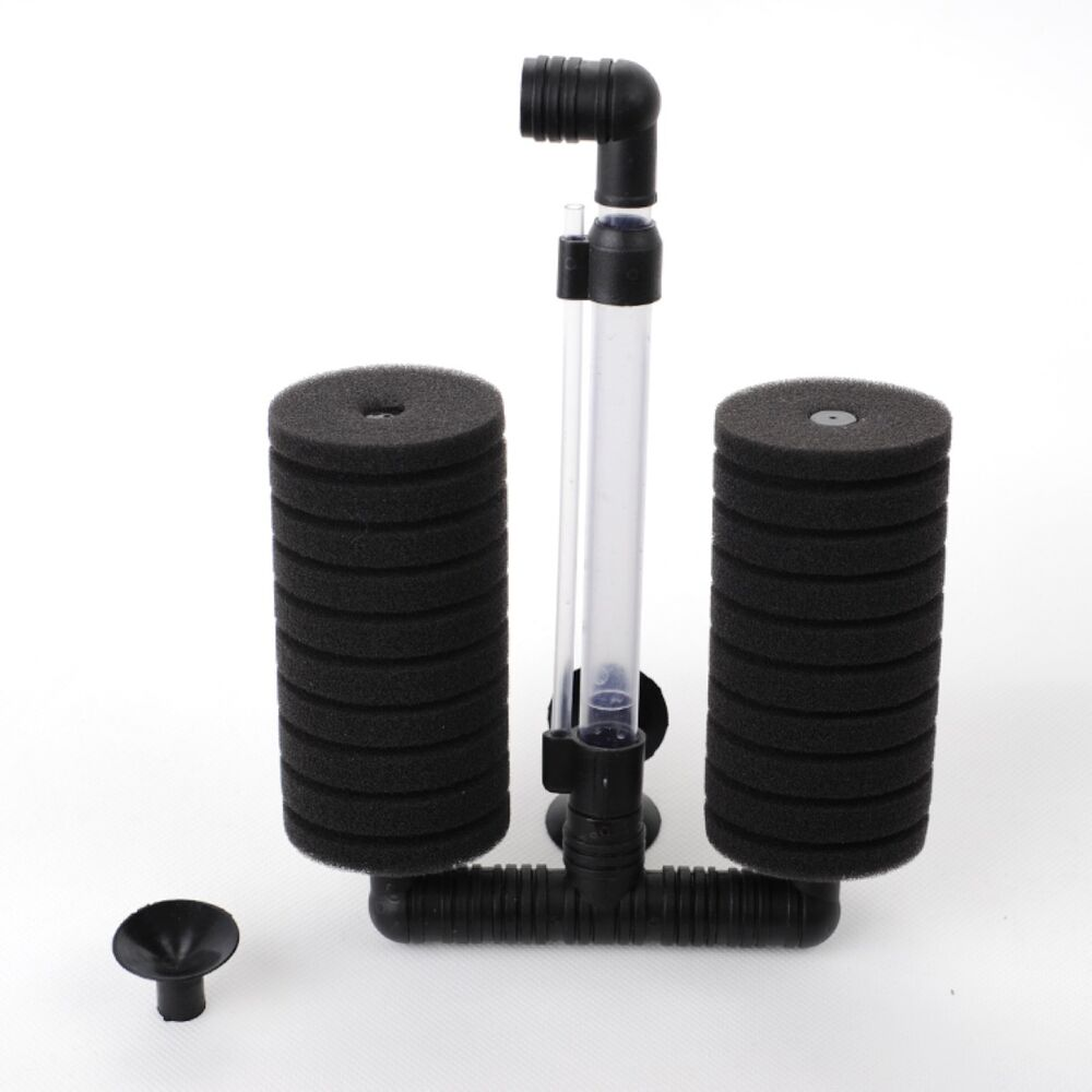 Bio sponge filter betta fry fish tank double sponge xy for Betta fish tank with filter