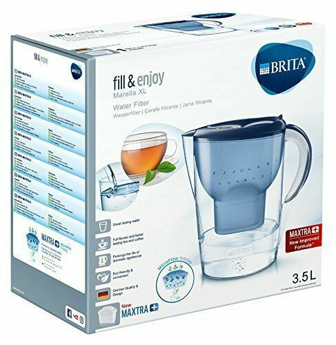 brita fjord water filter jug with 2 brita maxtra filter. Black Bedroom Furniture Sets. Home Design Ideas