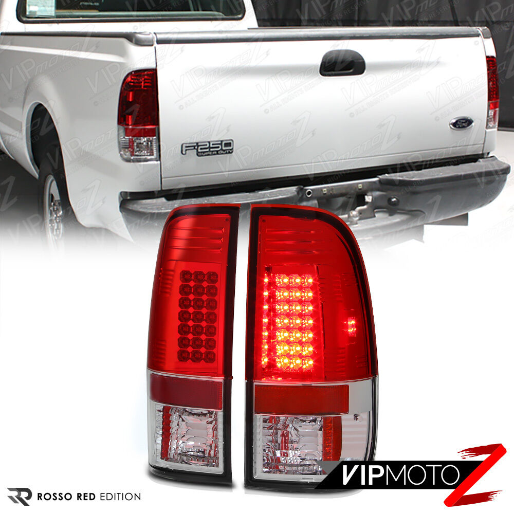 1997 2003 ford f150 red led tail lights brake lamps 99 07. Black Bedroom Furniture Sets. Home Design Ideas