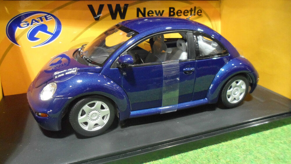 volkswagen new beetle bleu au 1 18 gate 01034 voiture miniature coccinelle ebay. Black Bedroom Furniture Sets. Home Design Ideas
