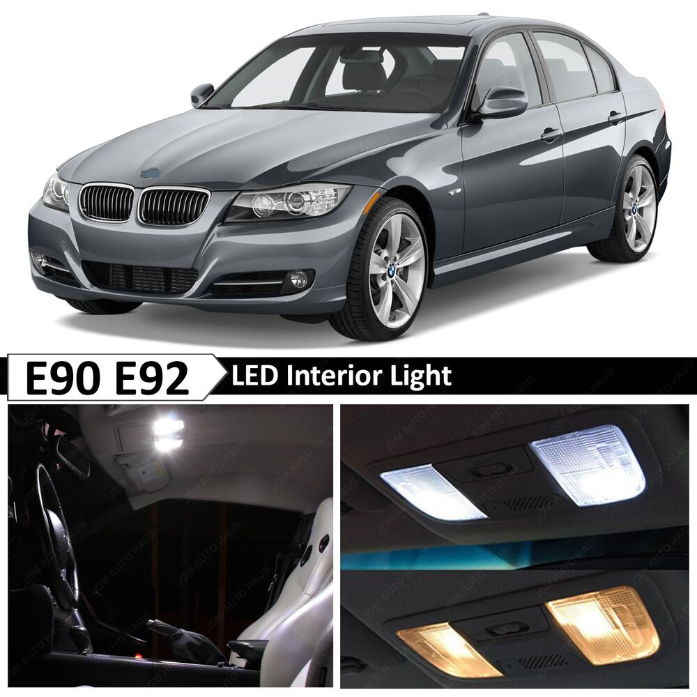 14x White LED Lights Interior Package Kit For 2006-2011