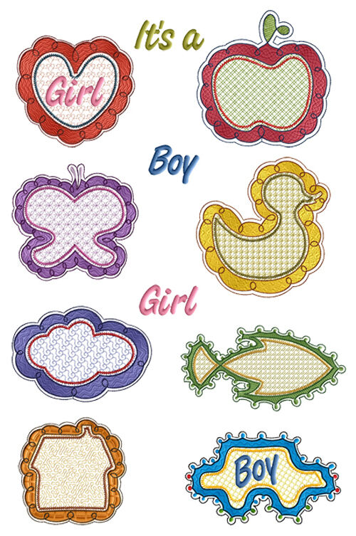Abc designs baby frames machine embroidery designs set 5 for Embroidery office design version 7 5