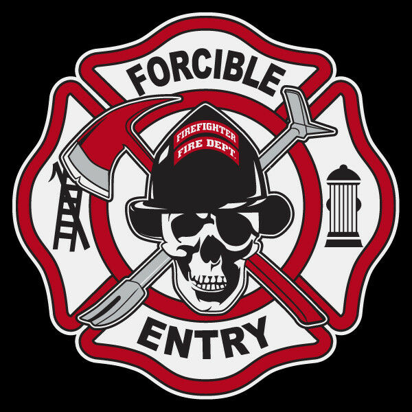 Forcible Entry Firefighter Small Maltese Cross Reflective