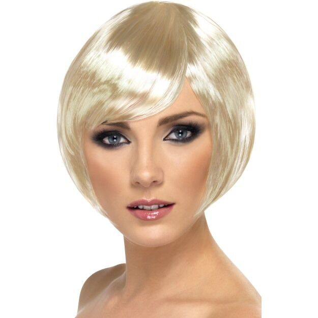 Blonde Bob Wig Fancy Dress 115