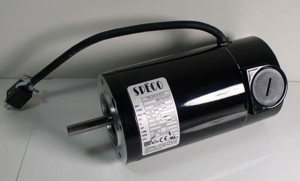 Speco 250 0140 01 33a5bepm 130v 2950 rpm 1 7 hp permanent for 1 4 hp dc motor