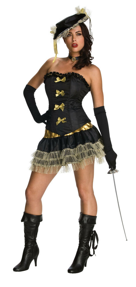 sexy halloween adult women 39 s french revolution three musketeer costume w hat ebay. Black Bedroom Furniture Sets. Home Design Ideas