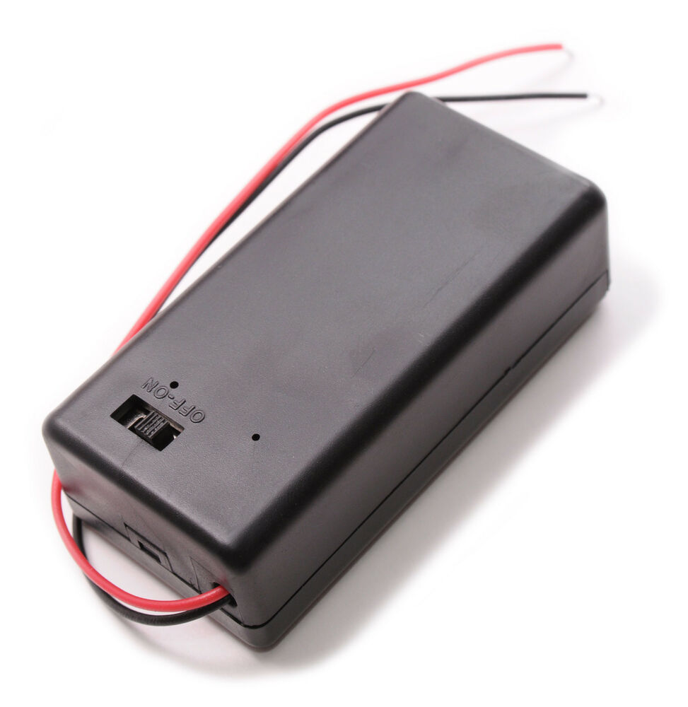 9v battery holder case with on off switch 9 volt box pack. Black Bedroom Furniture Sets. Home Design Ideas