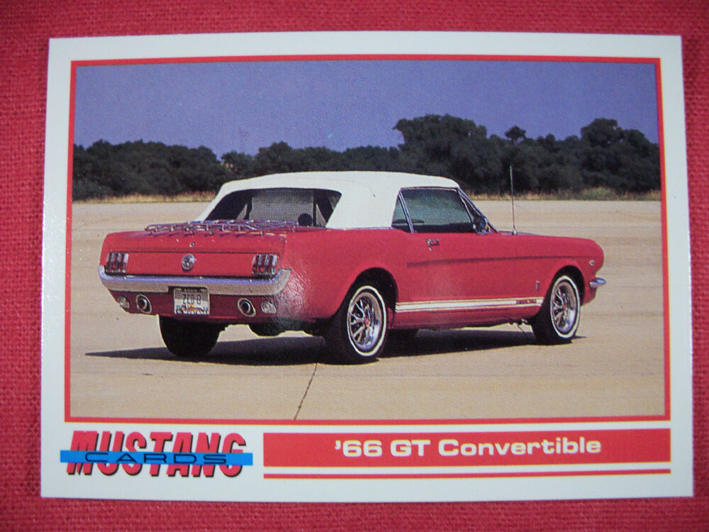 1966 gt convertible 83 mustang cards trading cards ebay. Black Bedroom Furniture Sets. Home Design Ideas