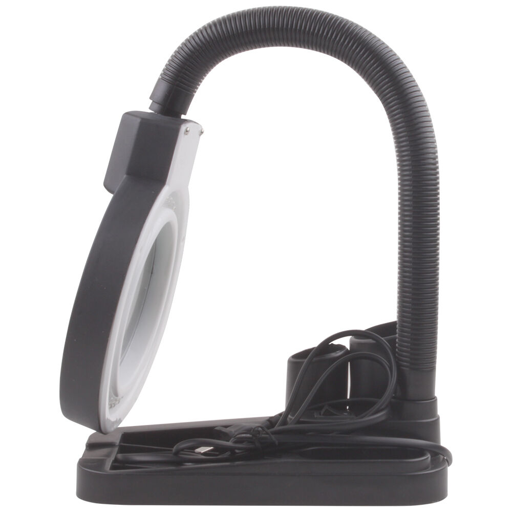 lamp style magnifying glass 5x 10x double magnifier 40 led light. Black Bedroom Furniture Sets. Home Design Ideas