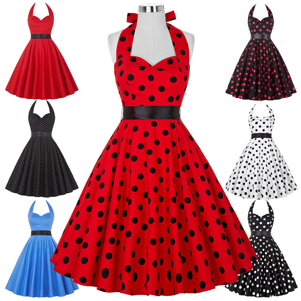 Rock AND Roll 1950s Vintage Polka Dot Swing Jive Evening ...