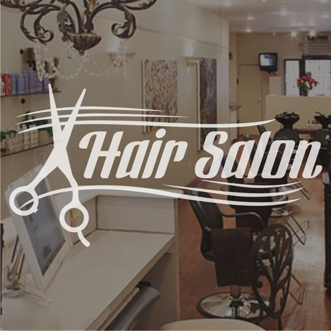 Hair Salon Hairdressers Window Sign Stickers Graphics