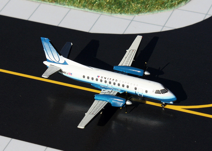 Gemini Jets Saab 340b United Express 1 400 Scale Model Aircraft Gjual1110 Ebay
