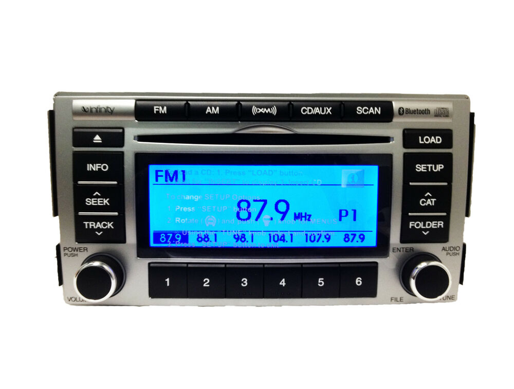 hyundai santa fe infinity satellite radio 6 disc changer. Black Bedroom Furniture Sets. Home Design Ideas