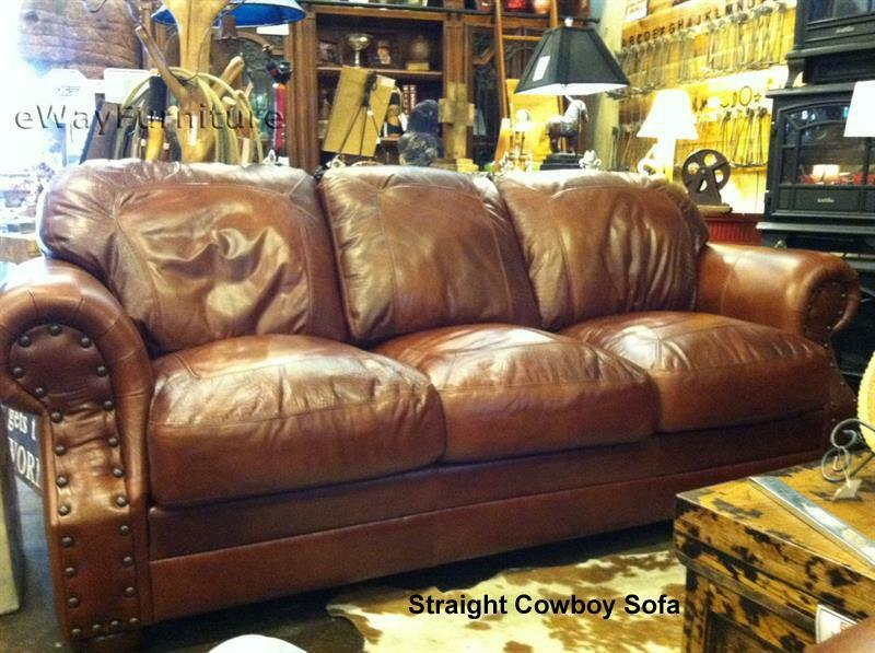 Made In The Usa 100 Top Grain Two Toned Leather Sofa