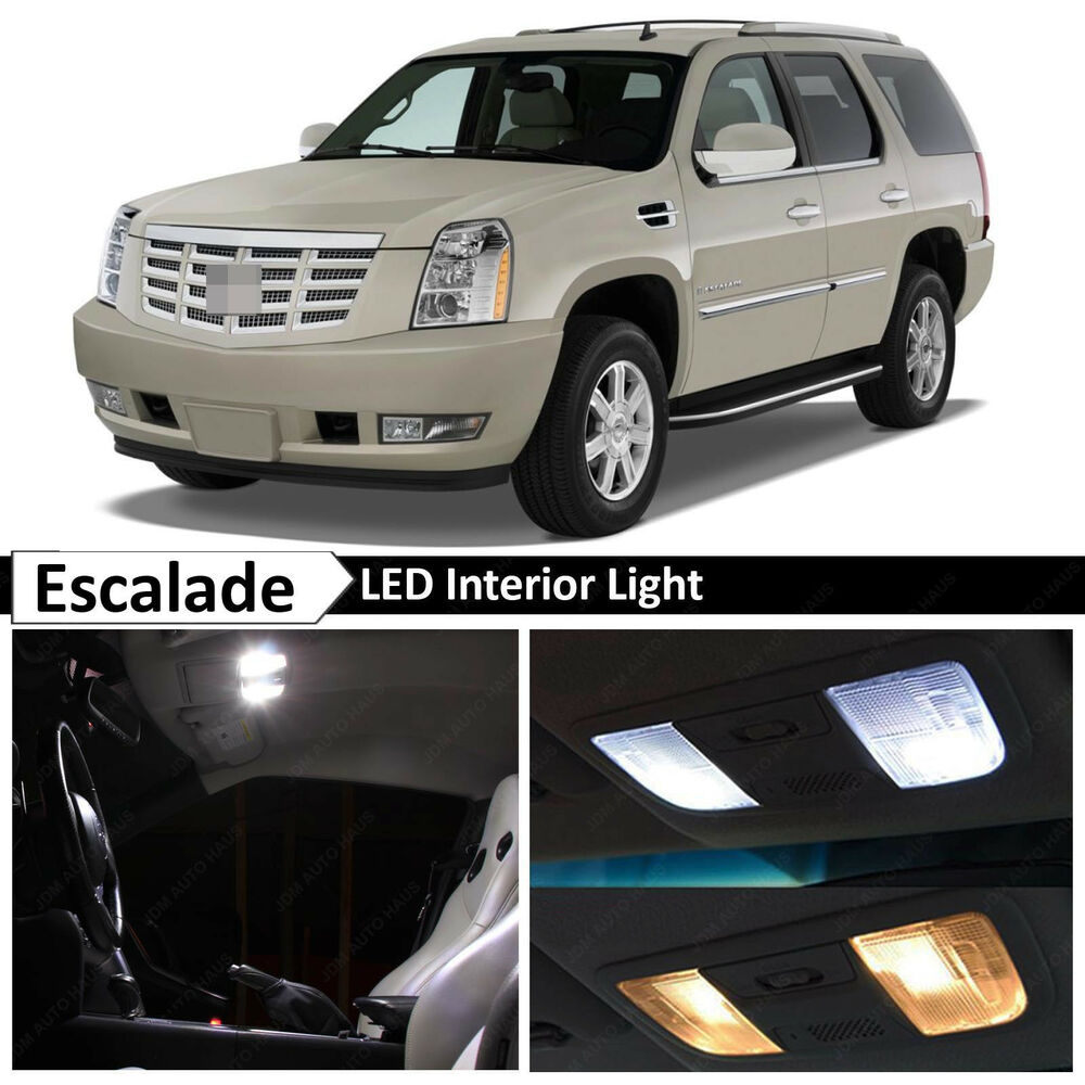 18x White Interior Led Lights Package For 2007 2014 Cadillac Escalade Suv Ebay