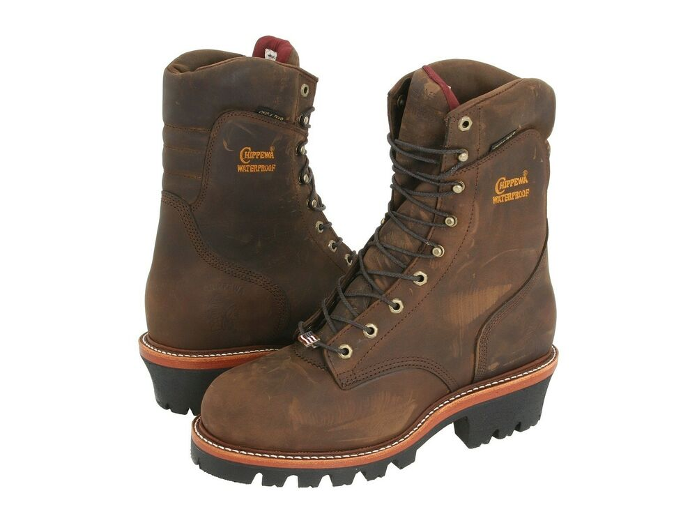 "The Chippewa Men's 9"" Waterproof Steel-Toe Super Logger Boot is a mouthful to say, but so are the features available in the construction of this super boot. A synthetic slip-resistant sole is meant for traction on unstable terrain, where safety is of the utmost importance."