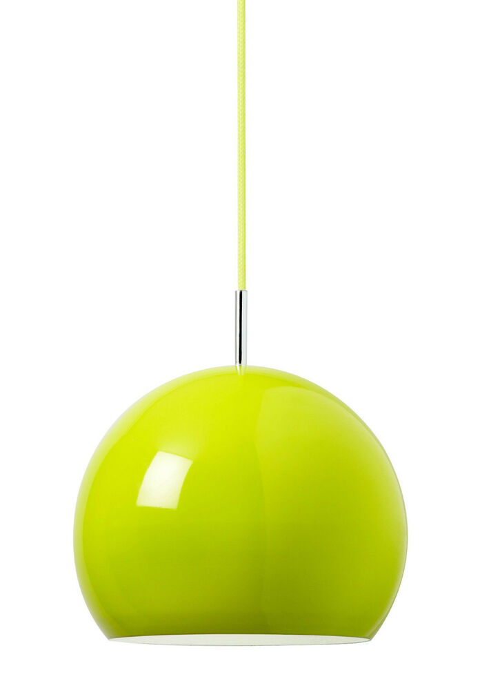 Retro dome pendant ceiling light in lime green metal finish green retro dome pendant ceiling light in lime green metal finish green cotton cable ebay aloadofball Image collections