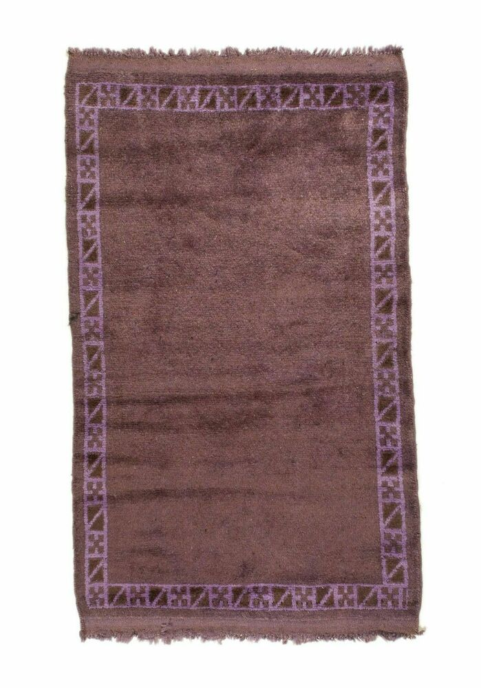 3x4 4x3 Overdyed Tribal Vintage Wool Rug 2 Ft 7 In X 4