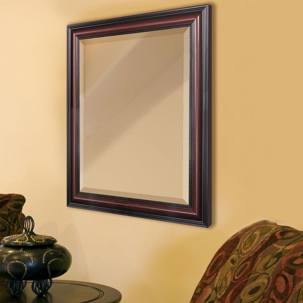 traditional cherry wall mirror 24 x30 8864 ebay. Black Bedroom Furniture Sets. Home Design Ideas