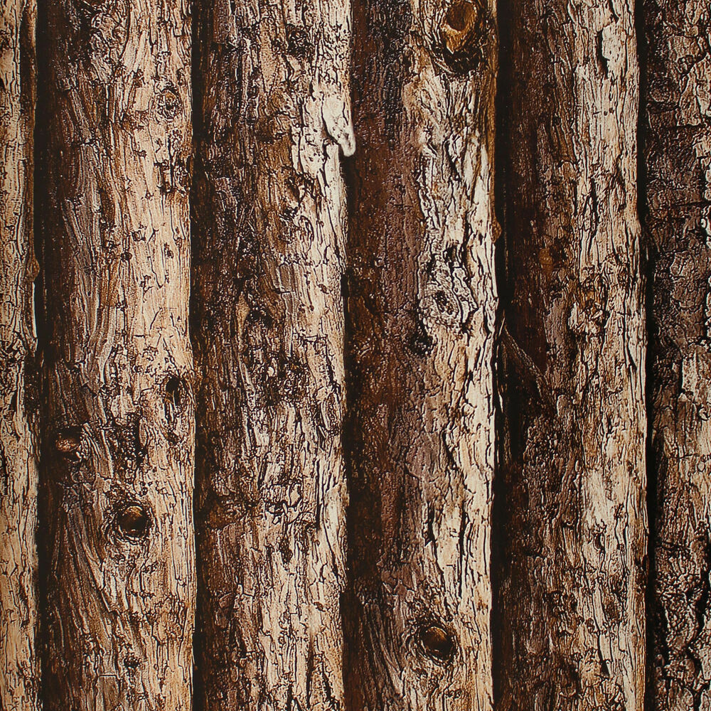 Wood Tree Vinyl 3d Wallpaper Thick Embossed Textured