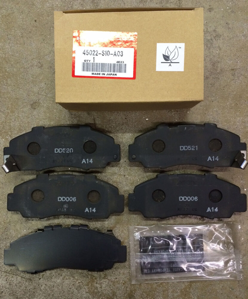 genuine oem honda accord v6 front brake pad set 1995 2002 brakes pads tl 95 98 ebay. Black Bedroom Furniture Sets. Home Design Ideas