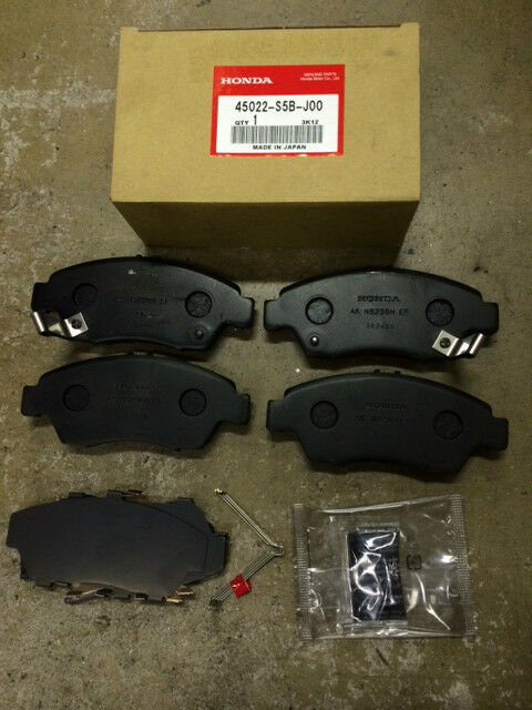 genuine oem honda civic si 04 05 rsx base 02 06 front brake pad set brakes pads ebay. Black Bedroom Furniture Sets. Home Design Ideas