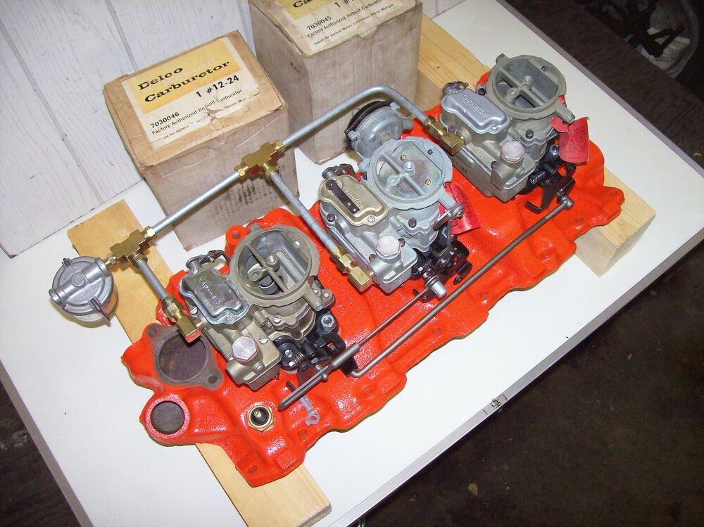 Chevy 409 Air Cleaner : Chevrolet engine with tri power bing images