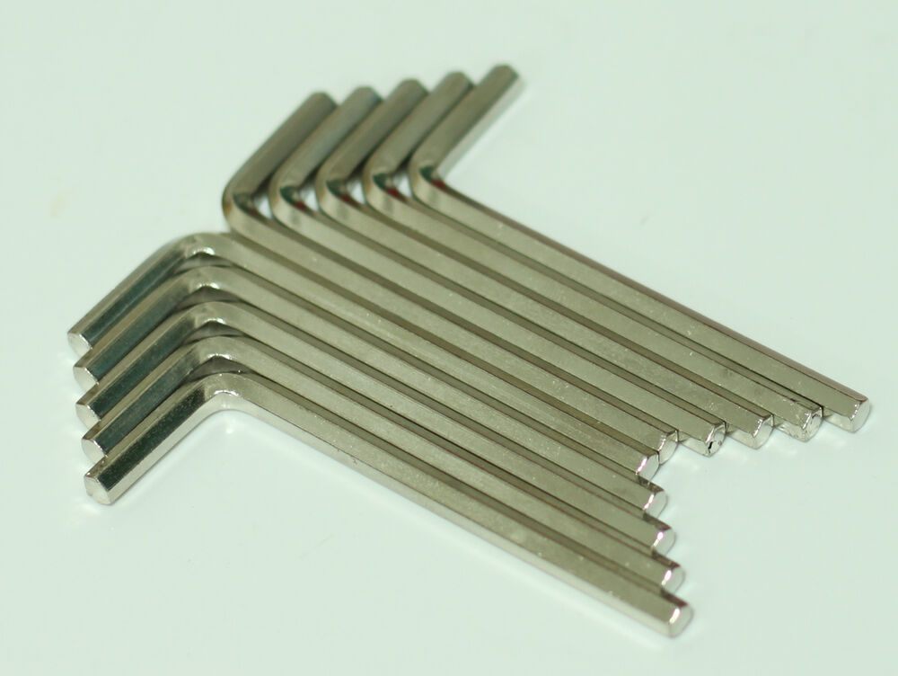 ten 4mm hex allen wrench key tool stainless steel new lot of 10 wrenches ebay