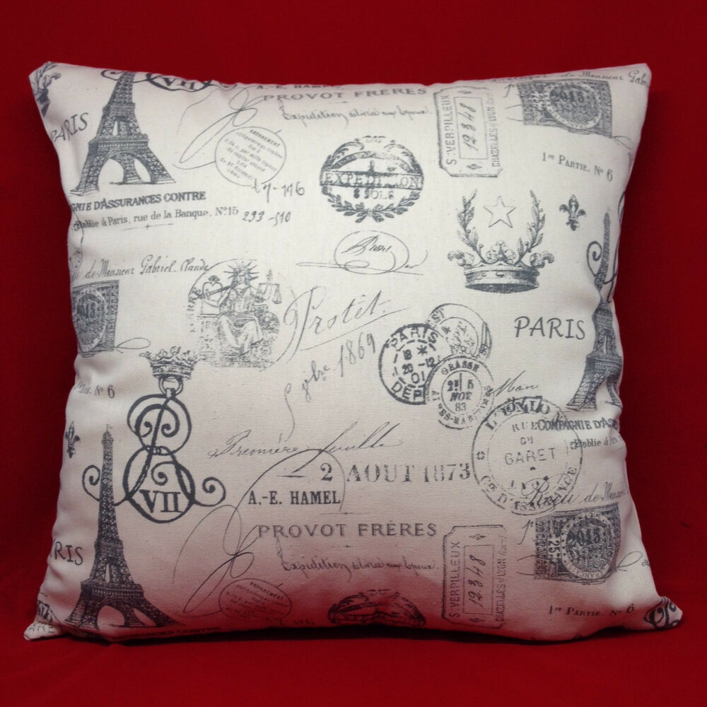 Steel Drake French Stamp Fabric Pillow Cover Case Ebay