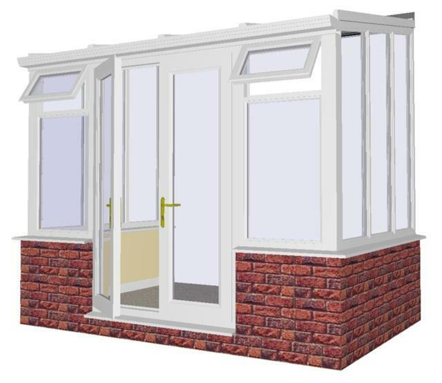 Conservatory Made To Measure 3m X Lean To White