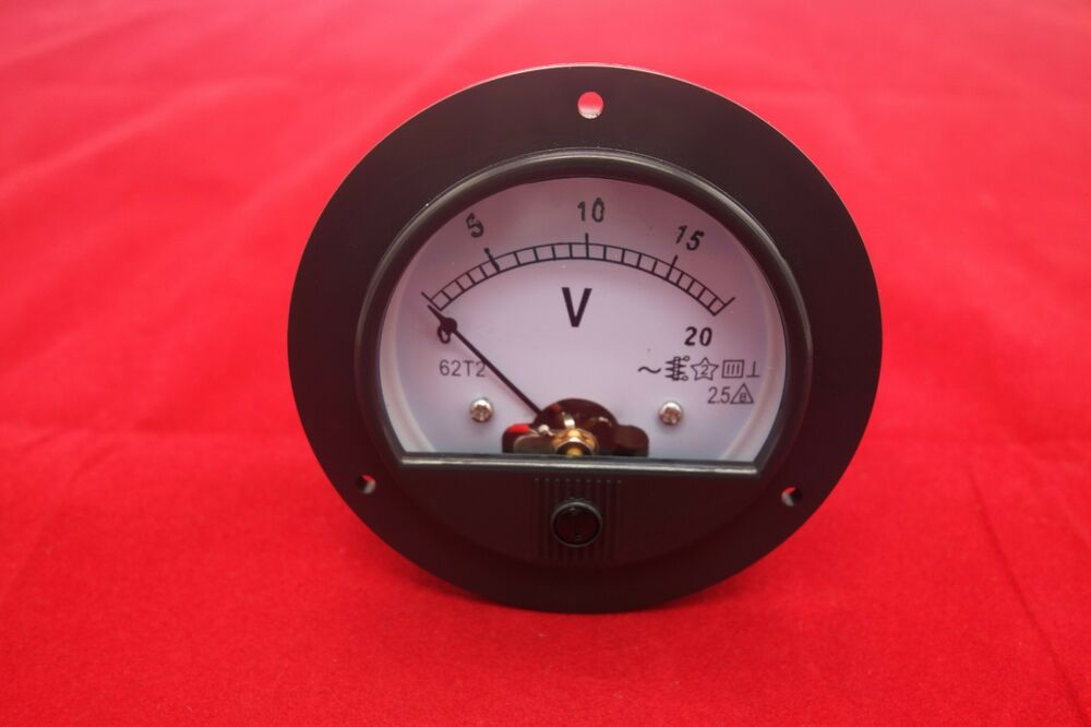 Analog Panel Meter : Ac v round analog voltmeter voltage panel meter dia