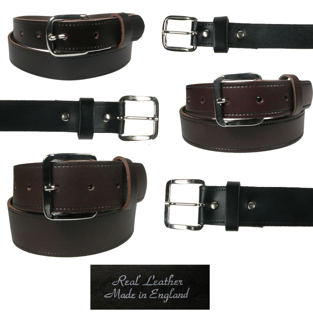 mens leather belt for trousers and 3 widths