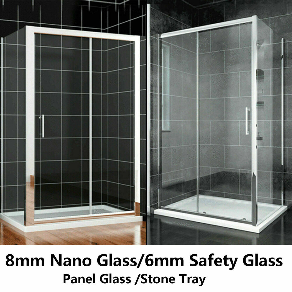 New double single sliding shower enclosure cubicle for New sliding screen door