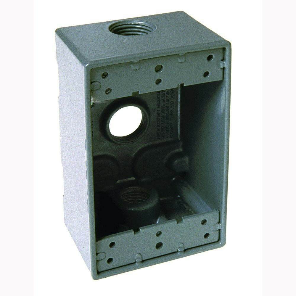 new hubbell bell 5324 0 single gang 3 3 4 inch outlets