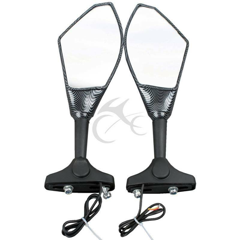 New turn signal integrated racing sport mirrors for yamaha for Yamaha r6 aftermarket mirrors