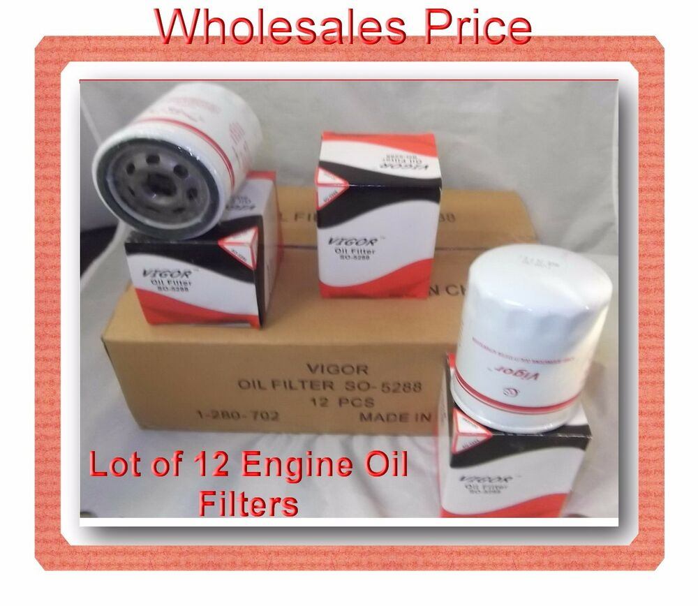 Case of 12 engine oil filter so5288 fits buick cadillac for Case of motor oil prices