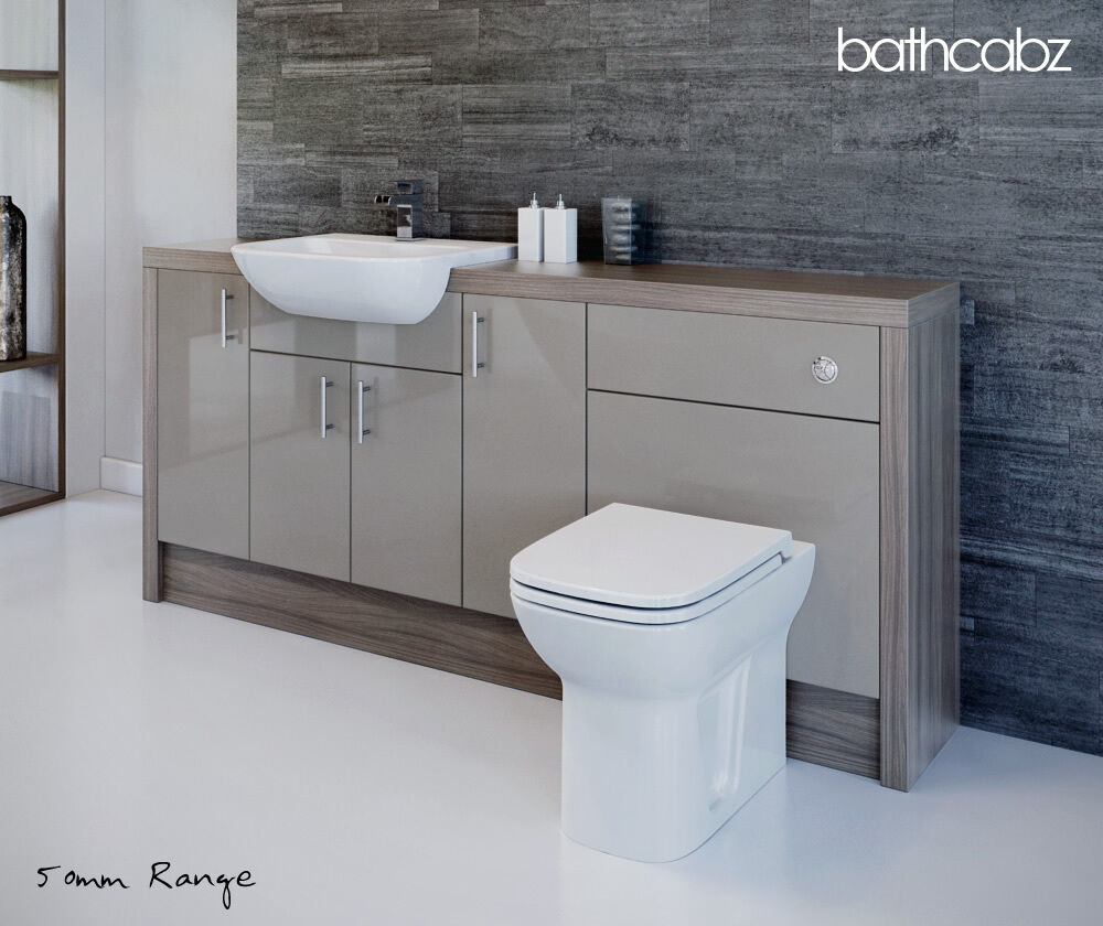 latte driftwood bathroom fitted furniture 1900mm ebay