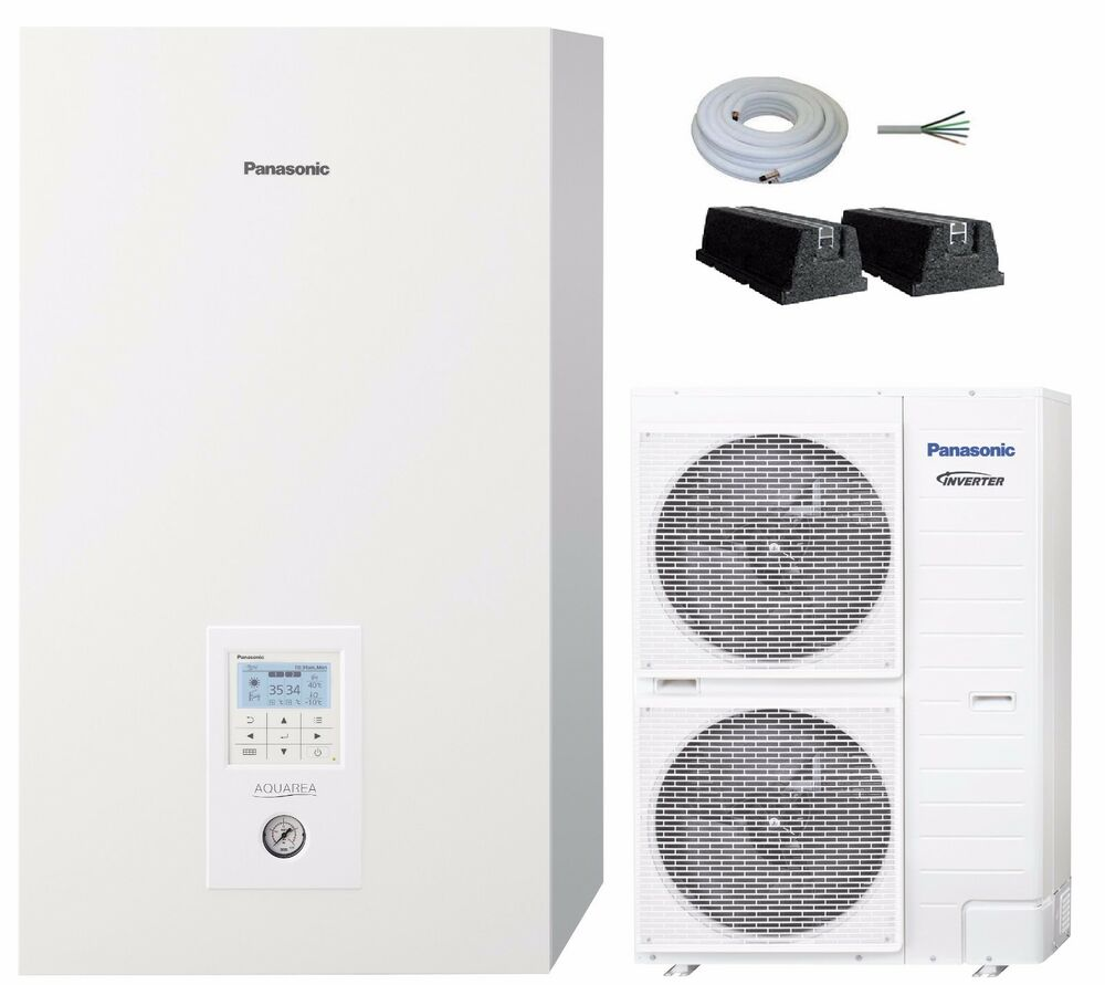 luft wasser w rmepumpe panasonic aquarea 14kw split wh sdc14c6e5 heizen k hlen ebay. Black Bedroom Furniture Sets. Home Design Ideas