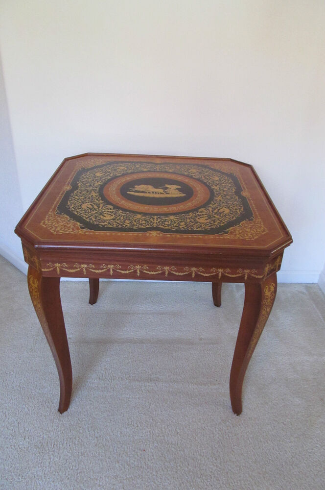 Notturno intarsio sorrento italy italian game table for Table extensible sorrento