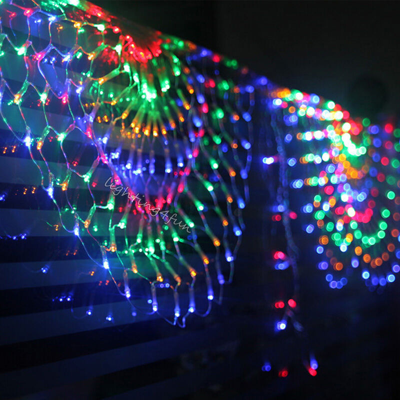 outdoor 120led colorful window christmas xmas tree garden