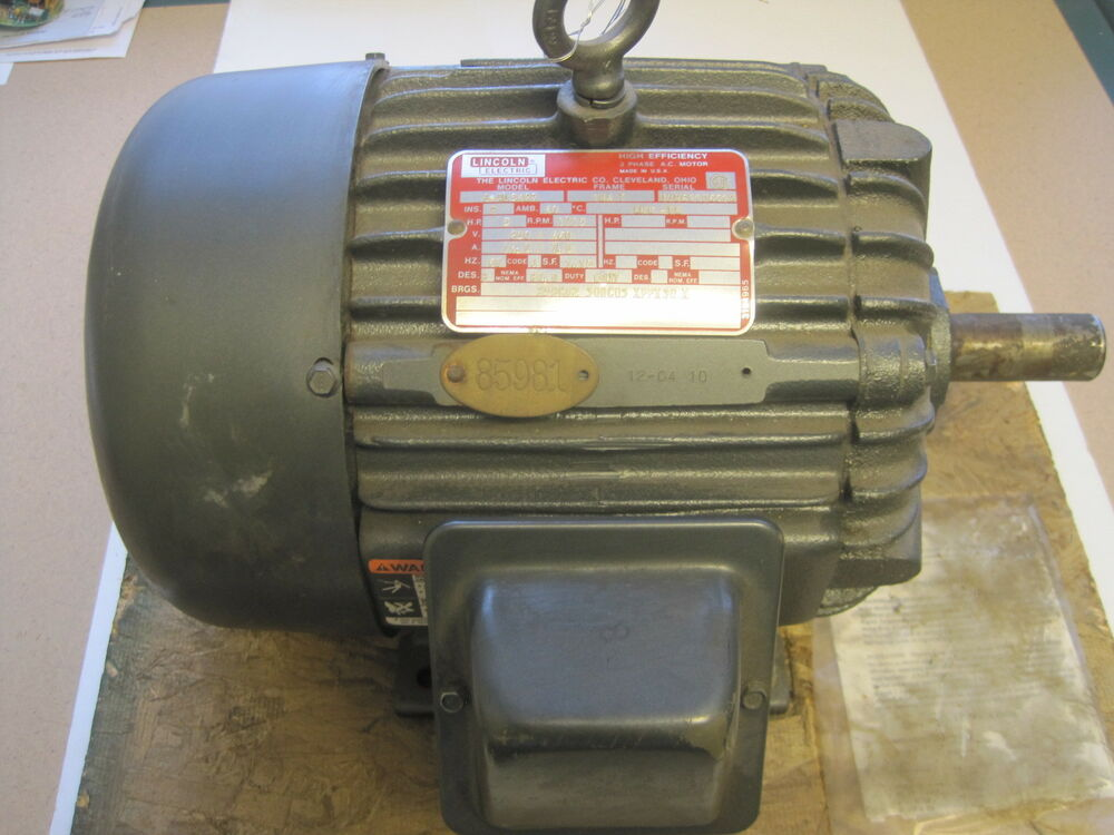 New Lincoln Electric D Al5427 Motor 5hp 184t Frame Ebay